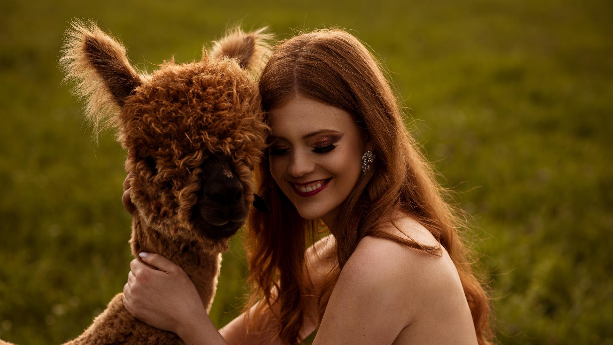 Alpakashooting mit Jeannie